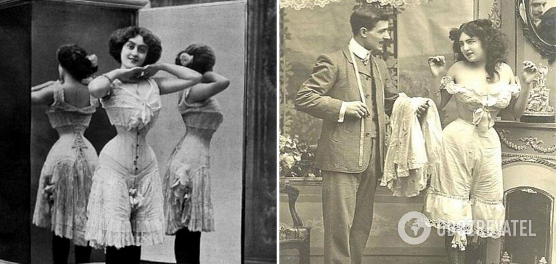 Женщины раньше ходили без белья