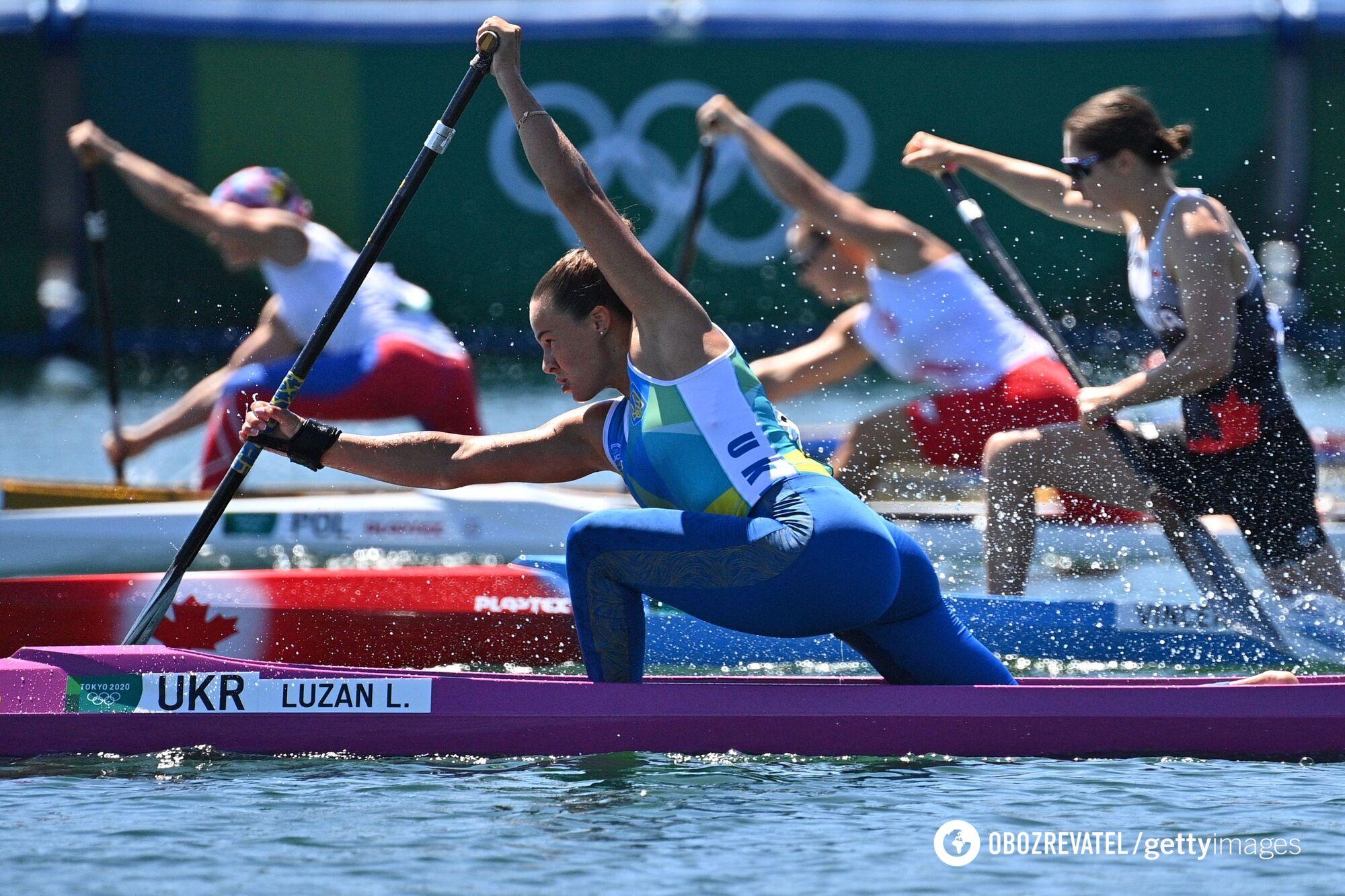 Людмила Лузан на Олимпийских играх в Японии.