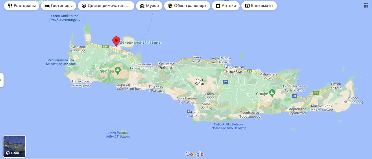 Ханья на карте