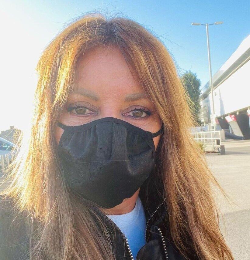 Керол Вордерман у захисній масці.
