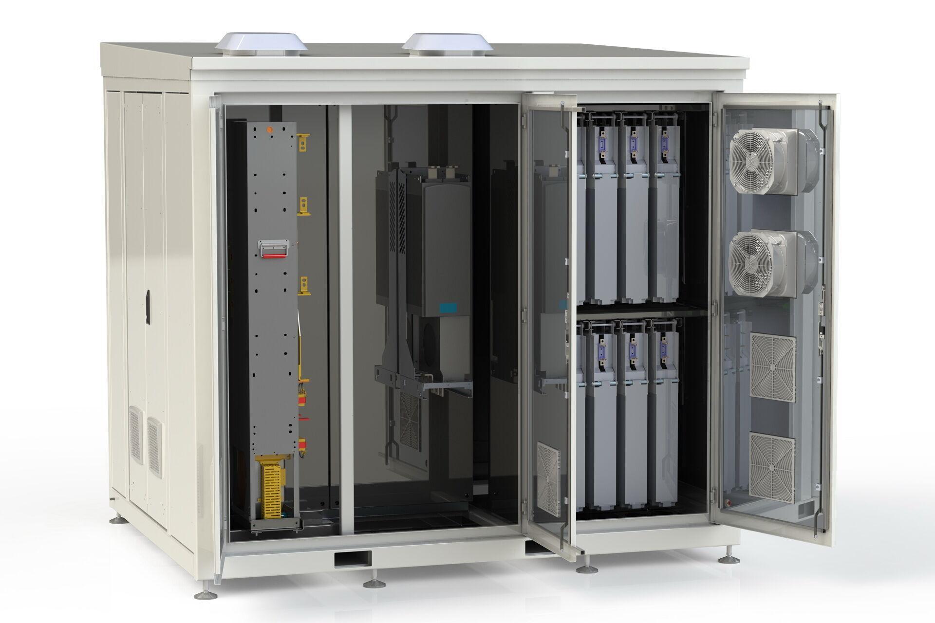 Силові концентратори можуть вміщати до 20 акумуляторів на 13 кВтг або 5 акумуляторів на 82 кВтг