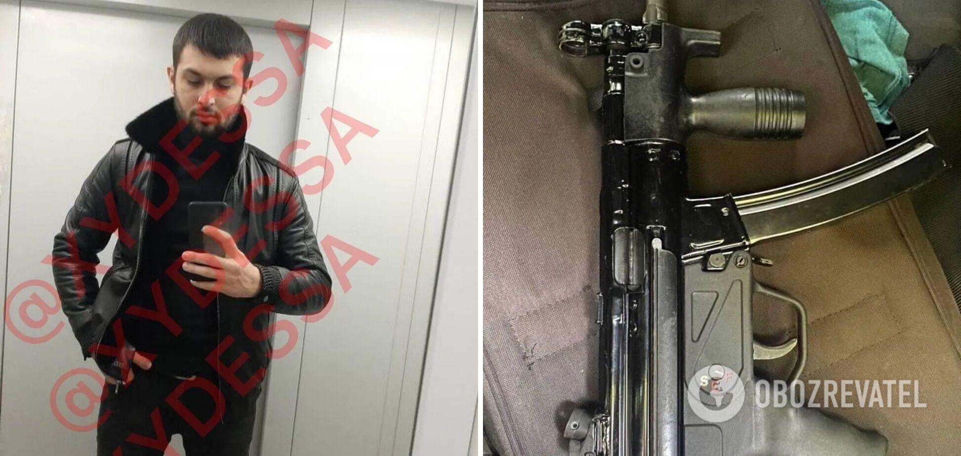 Вбитий Лачин Мамедов і зброя, з якої його розстріляв кілер