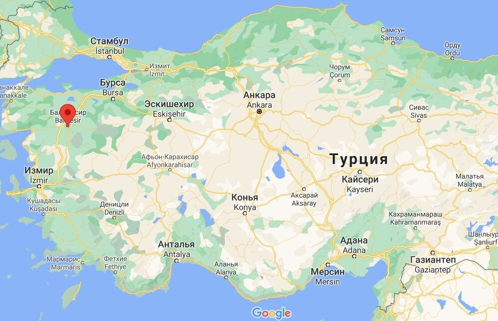 Авария случилась в провинции Балыкесир.