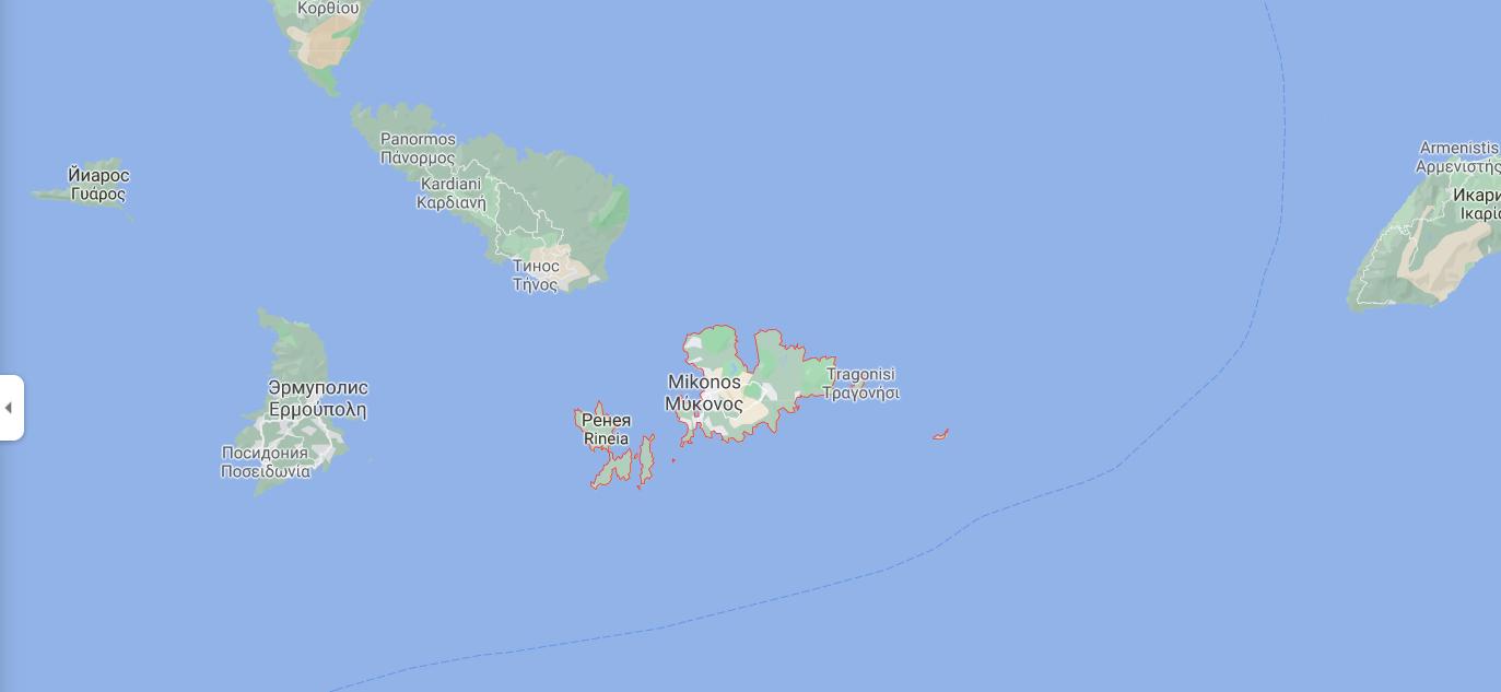 Де знаходиться острів Міконос