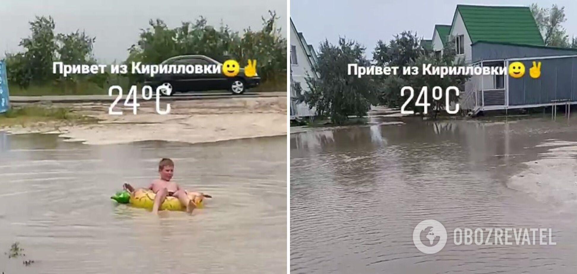 Кирилловку затопило после ливня