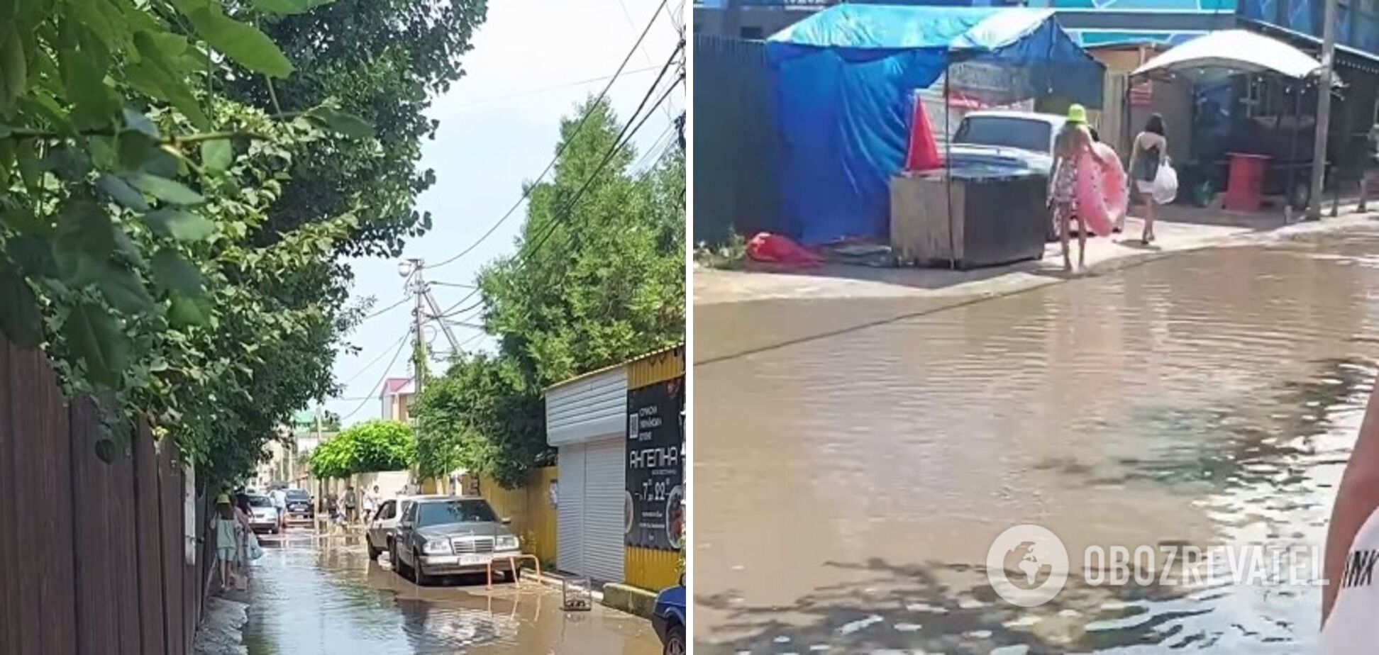 В Железном Порту улицы превратились в реки