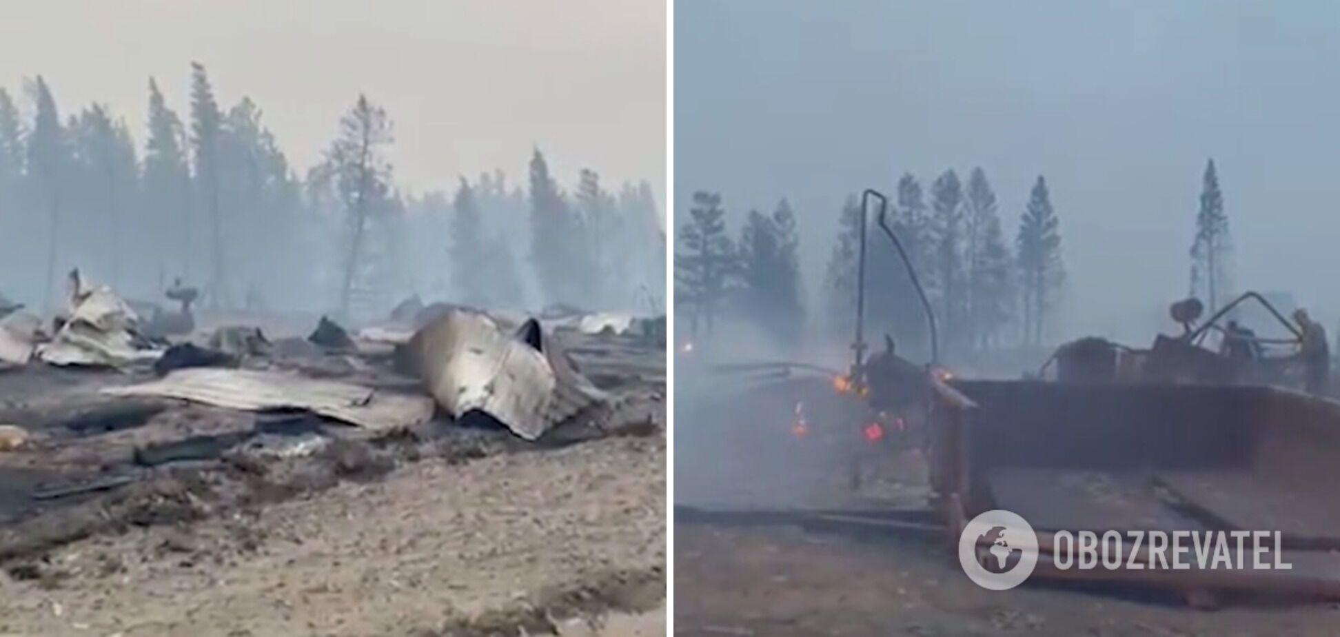В селе сгорели дома и авто.