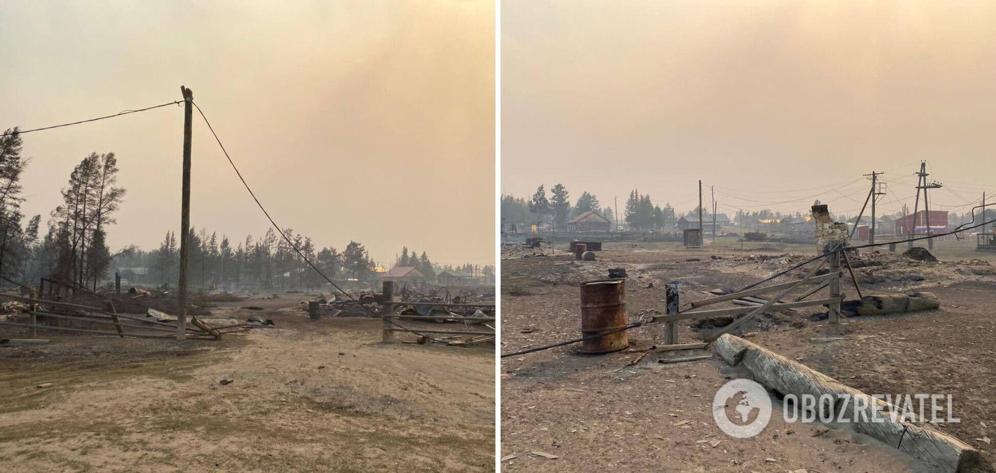 Последствия пожаров в Якутии.