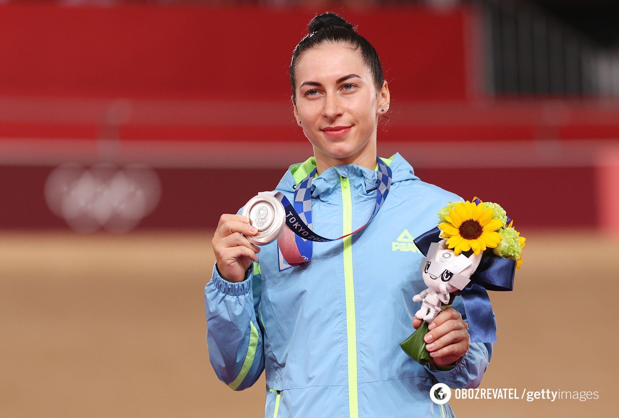 Старікова з медаллю Олімпіади в Токіо.