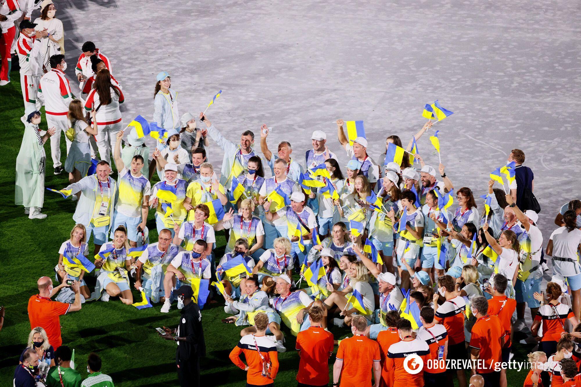 Сборная Украины на Олимпиаде-2020.