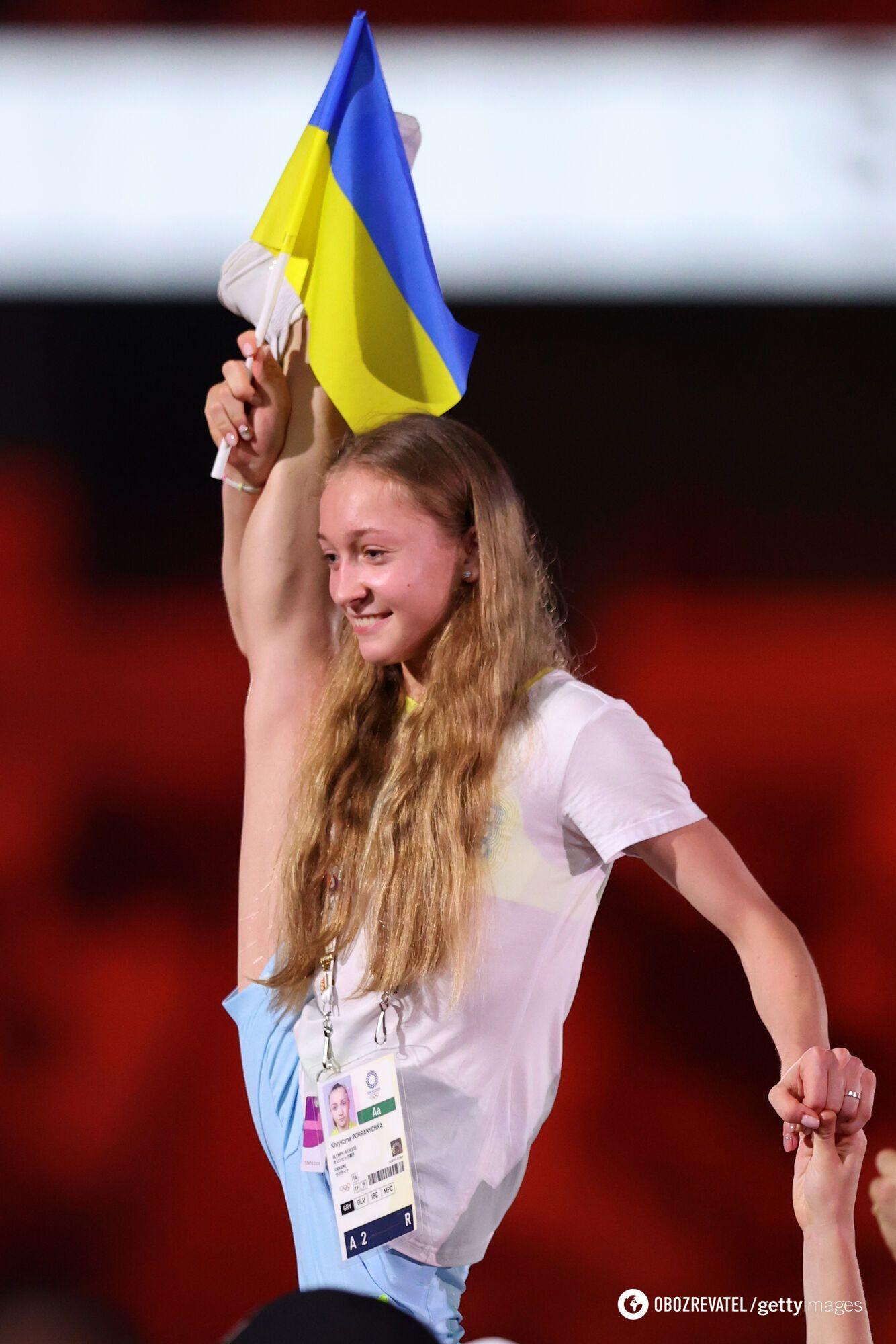 Украинская художественная гимнастка Кристина Пограничная