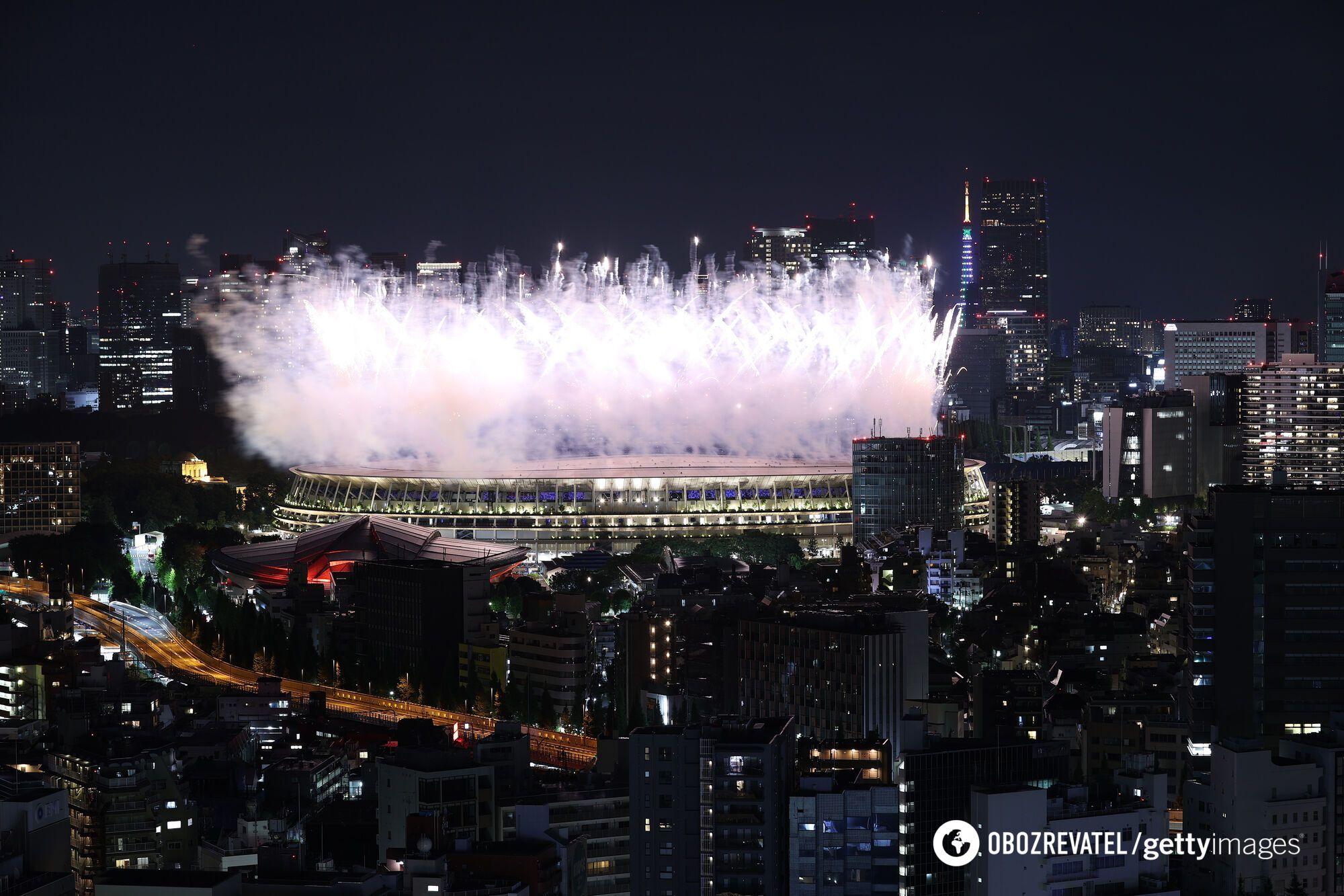 Церемония закрытия на Олимпиаде в Токио.