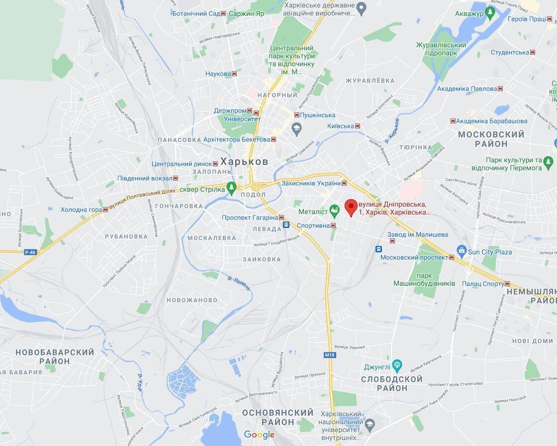 Інцидент стався на вулиці Дніпровська.