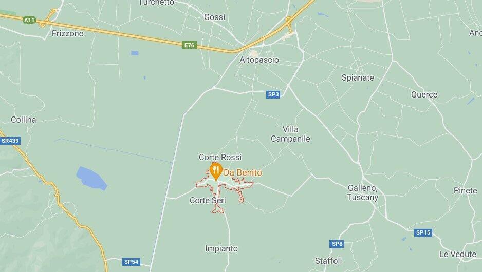 Кристина исчезла в поселке Орентано у Пизы