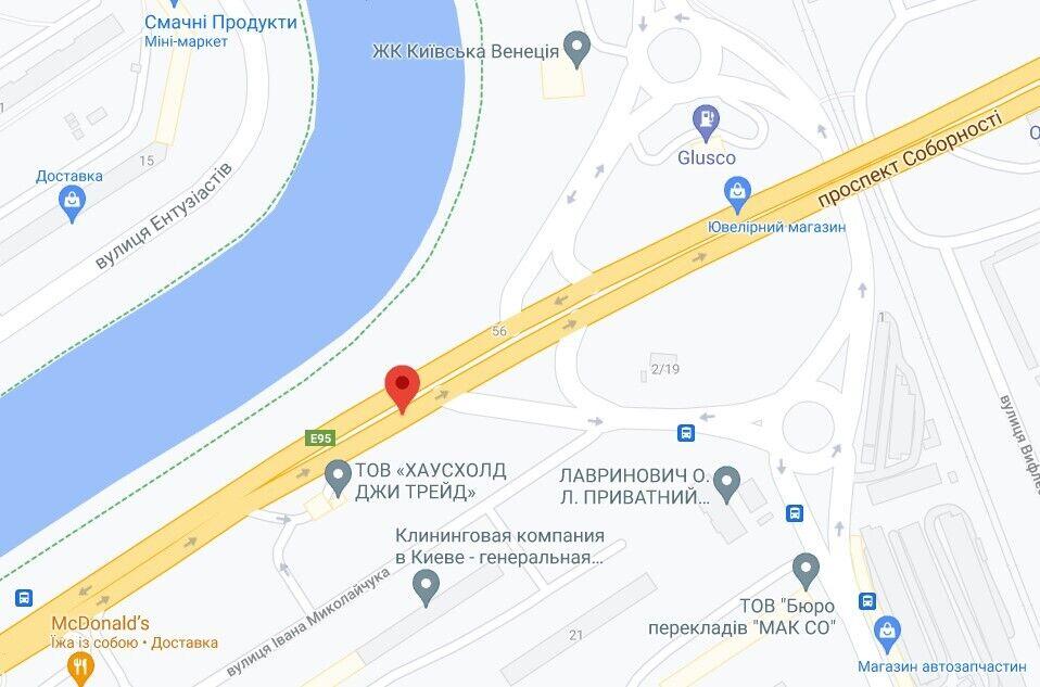ДТП трапилася на проспекті Соборності в Києві