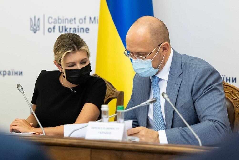 Елена Зеленская и Денис Шмыгаль.
