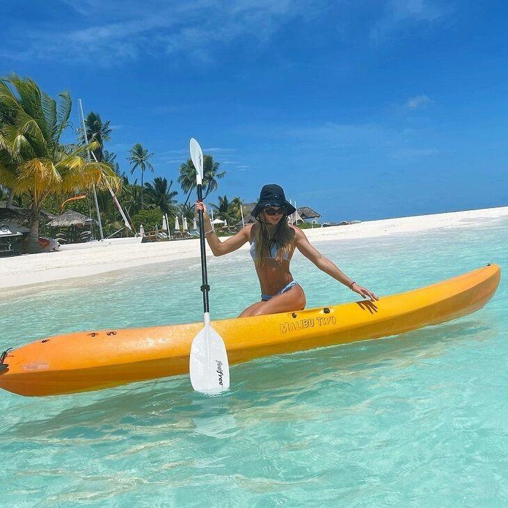 Дар'я Білодід поїхала на Мальдіви