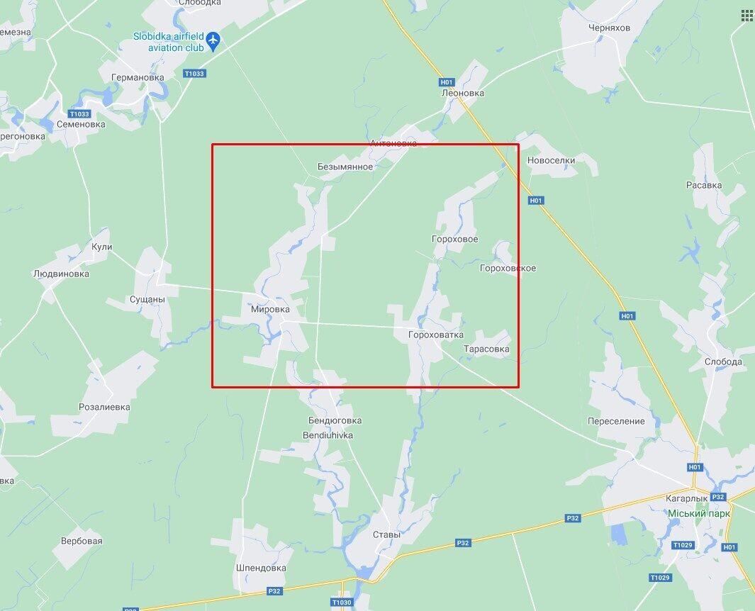 ДТП сталася на перехресті доріг сіл Мировка і Горохове.