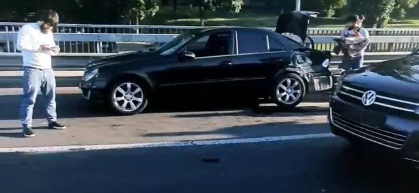 Масова аварія на проспекті Курбаса.