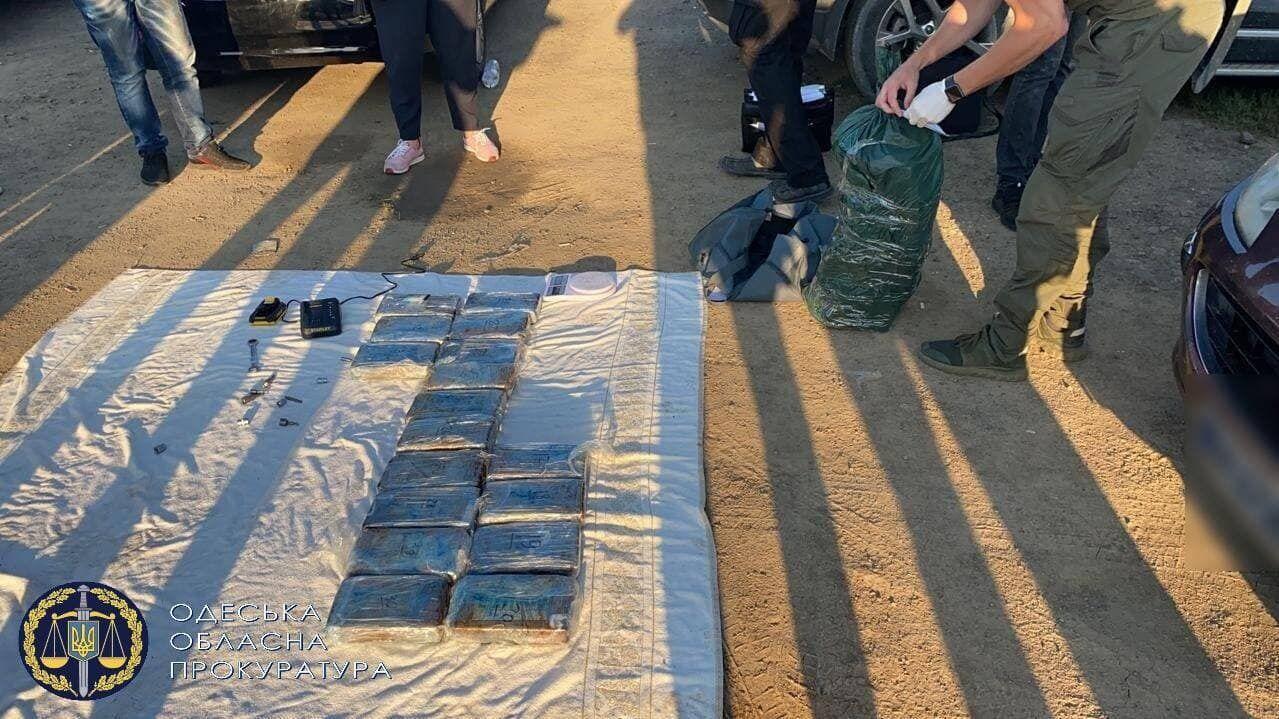 В Одесской области правоохранители изъяли 50 брикетов кокаина
