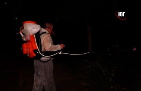 В Бердянске травят комаров