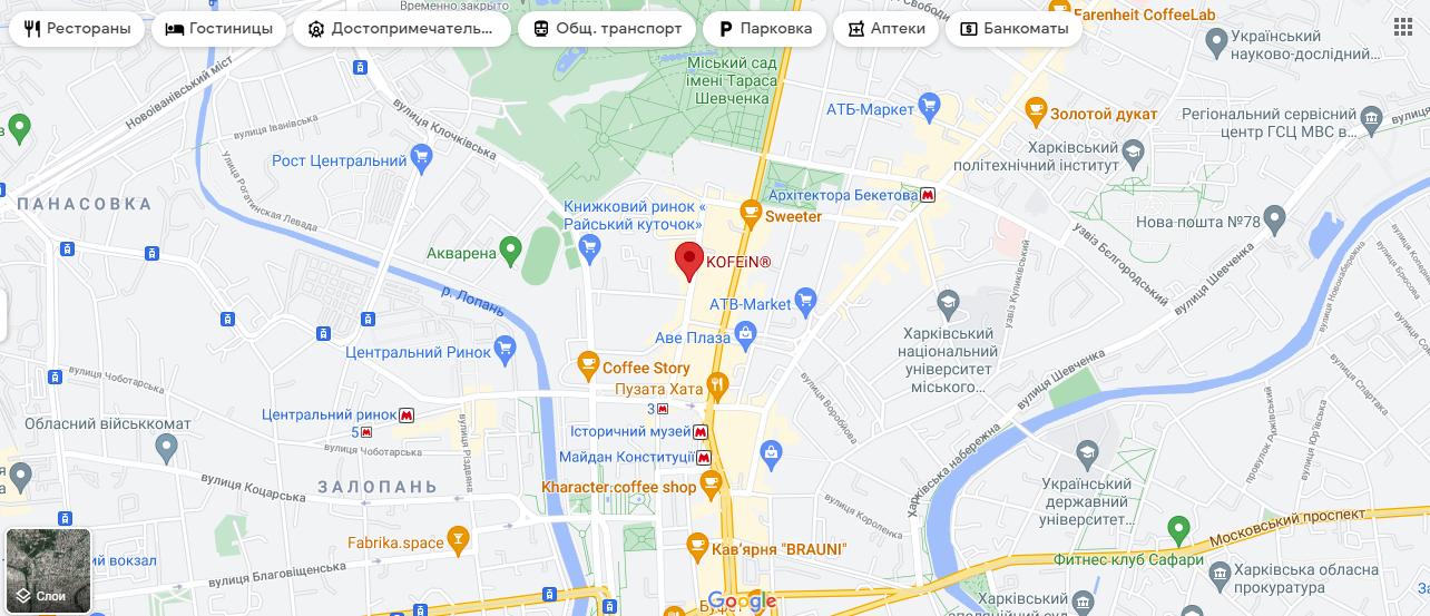 Місце нападу на мапі