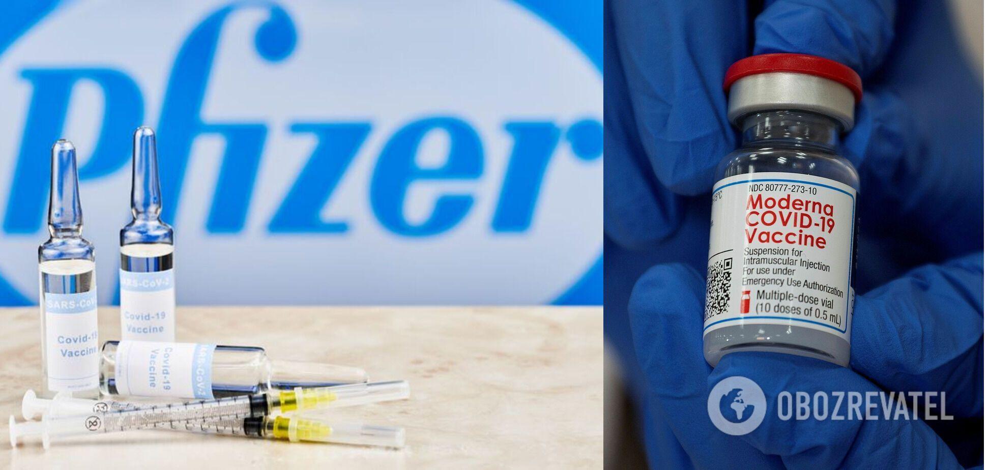 Вчені порівнювали природній захист і той, який дають щеплення Pfizer та Moderna