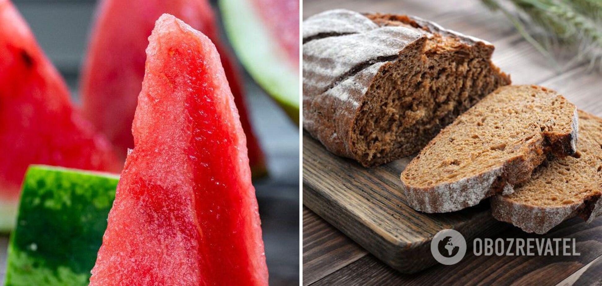 Сочетание арбуза и хлеба