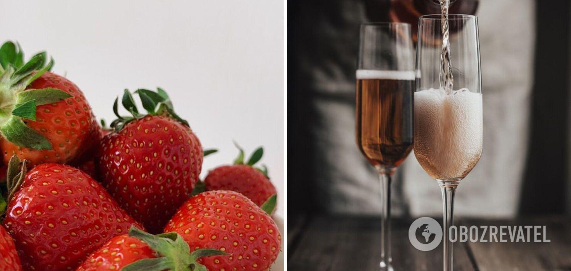 Сочетание клубники и шампанского