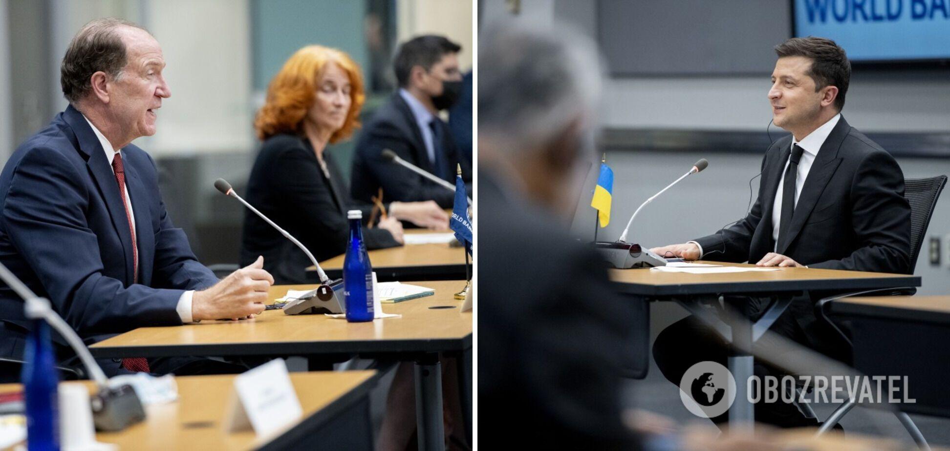 Владимир Зеленский во время встреч в Вашингтоне