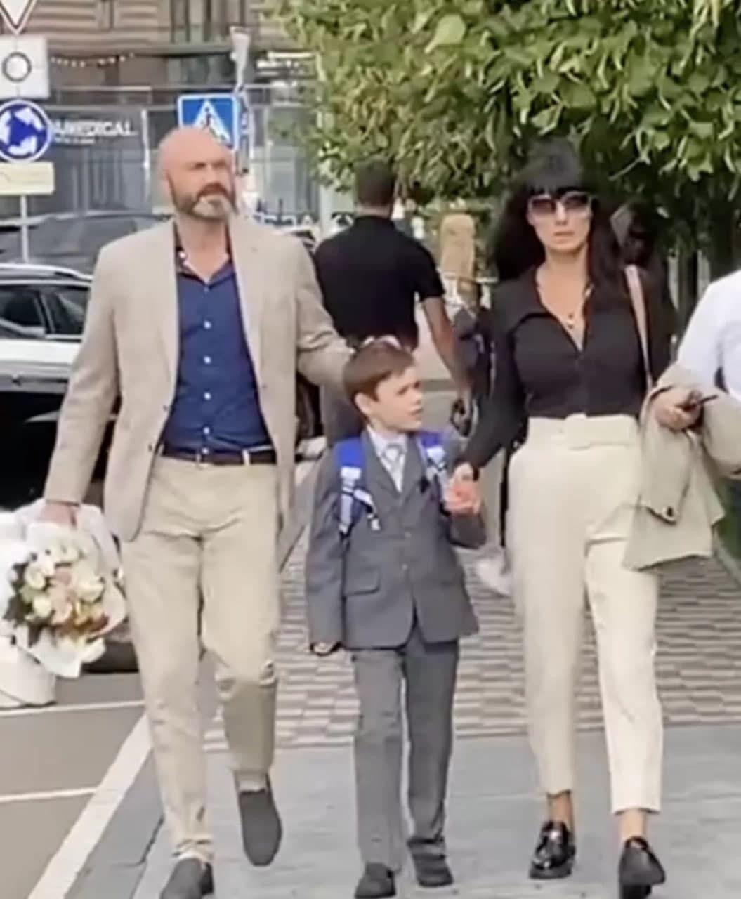 Маша Єфросиніна відправила 7-річного сина Сашу в перший клас