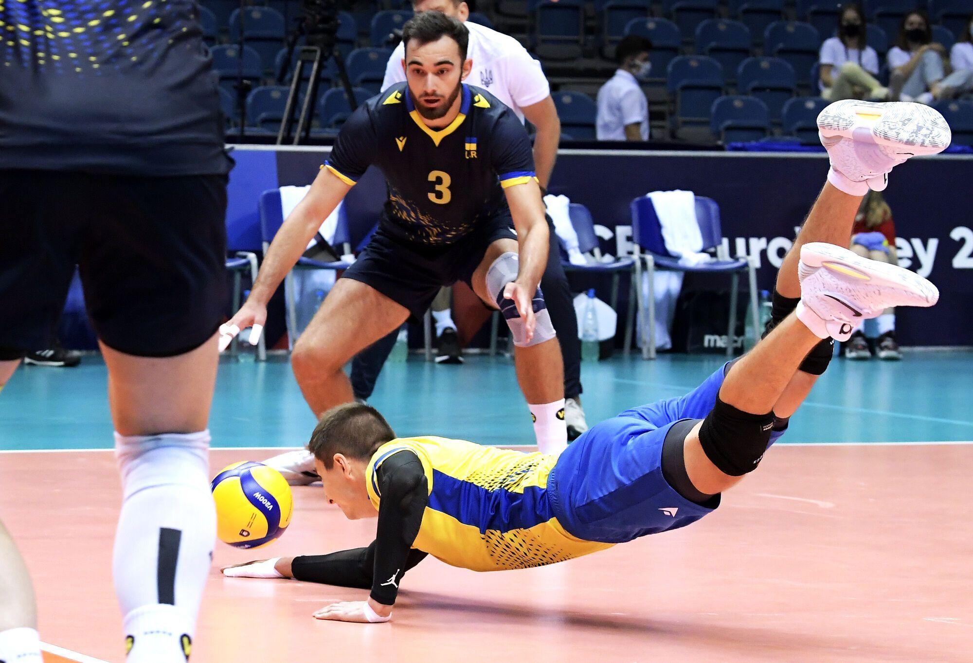 Українці в матчі з Бельгією.