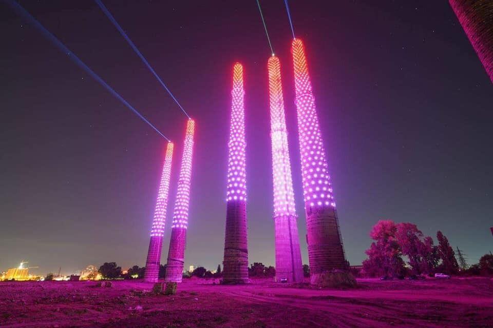 Лазерне шоу в Дніпрі