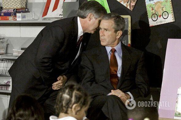 Президент США Джордж Буш узнал о теракте