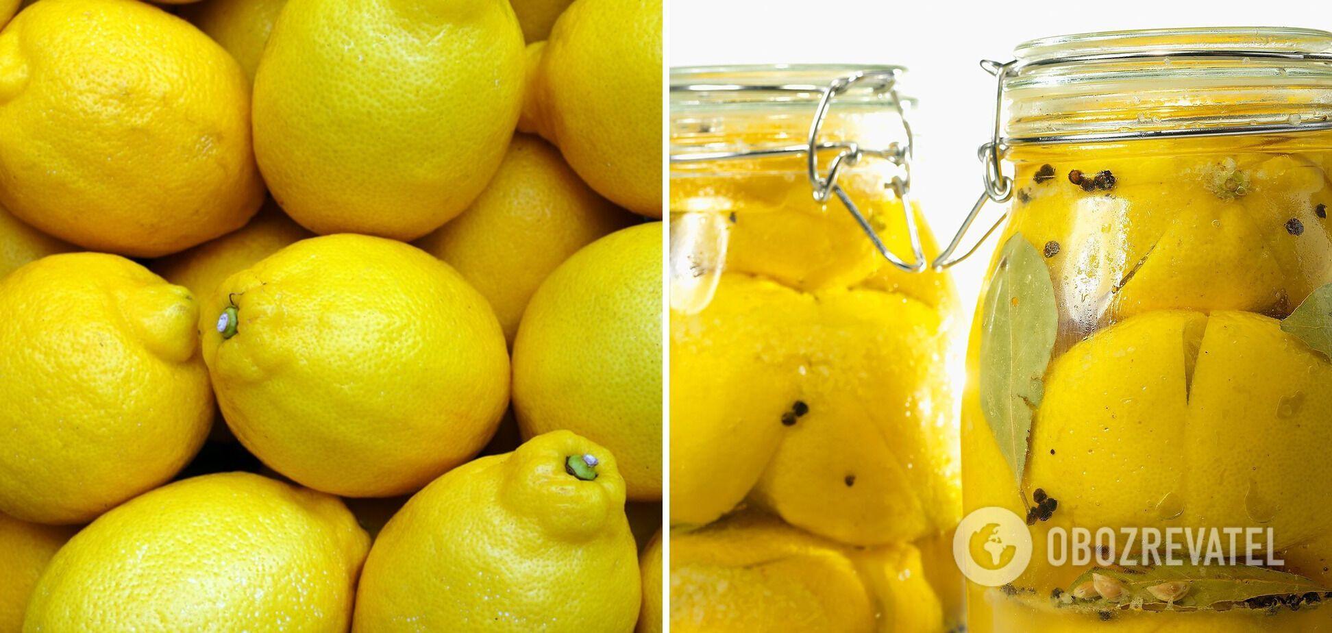 Засолені лимони