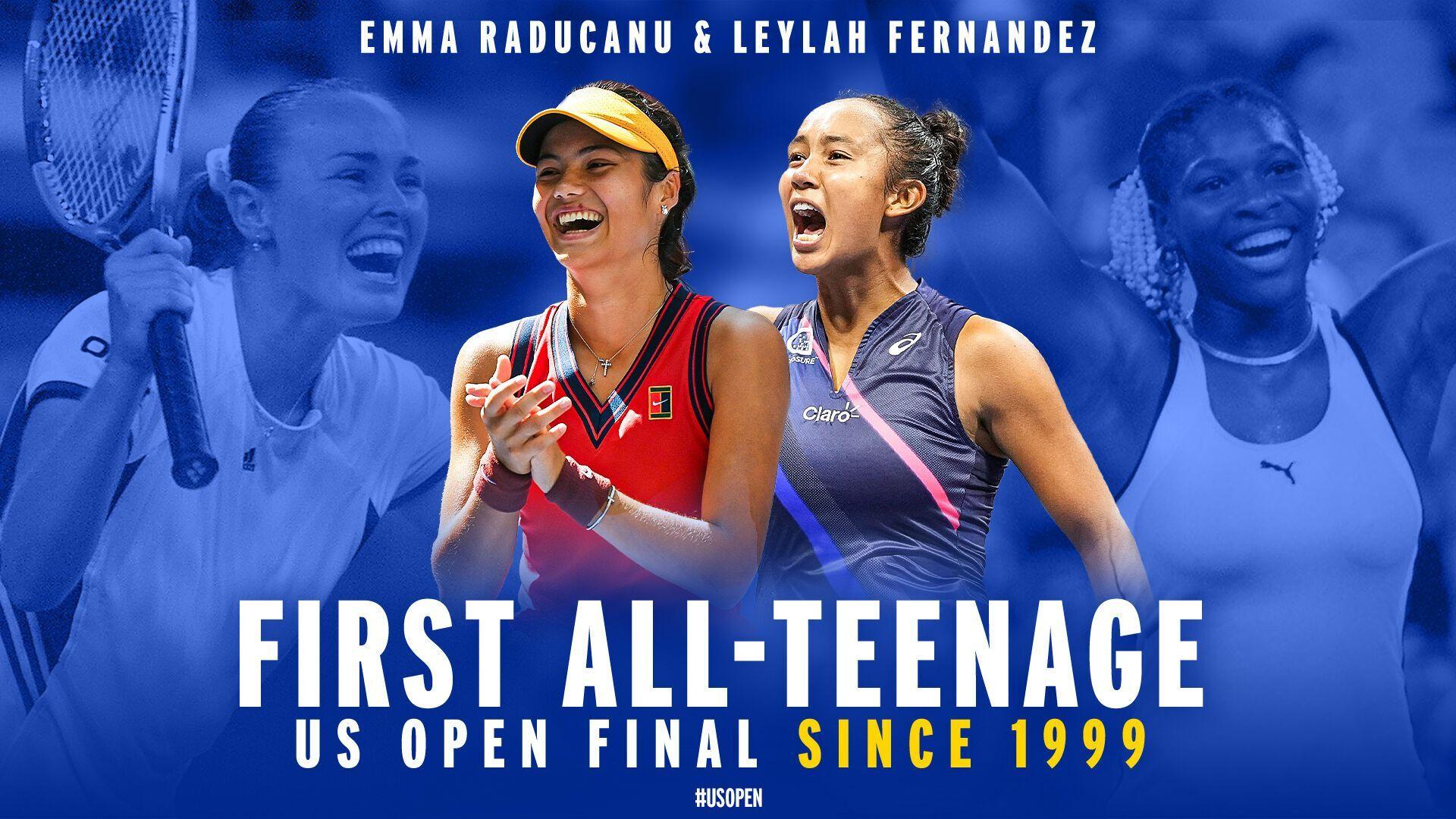 Впервые за 22 года в женском финале сыграют тинейджеры