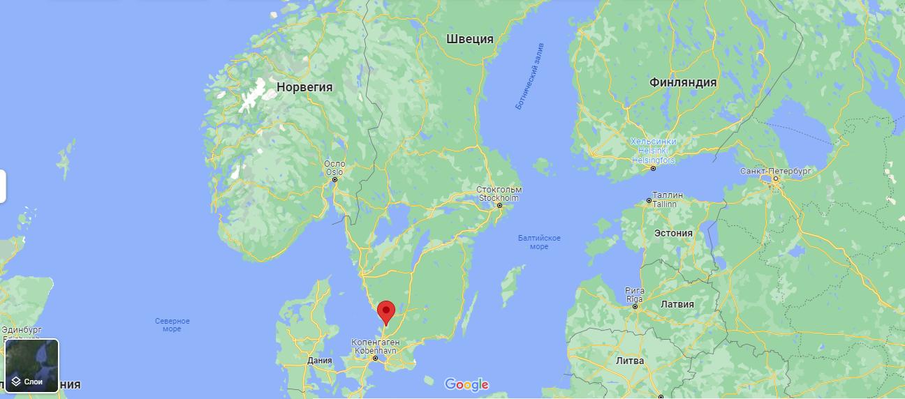 Лахольм на карте