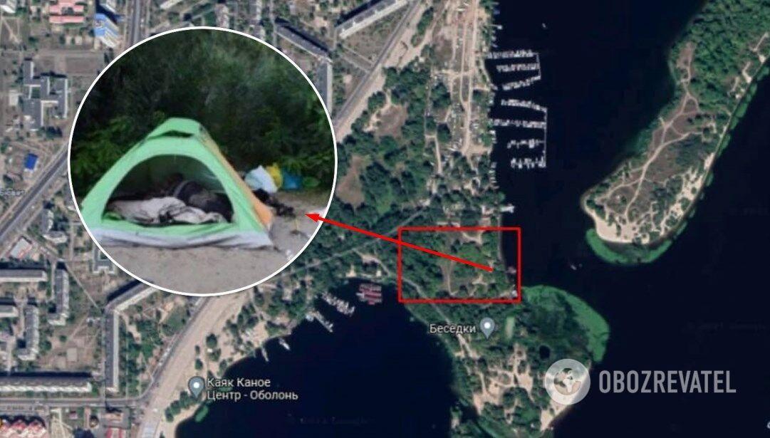Тело убитой женщины нашли в палатке на берегу Днепра