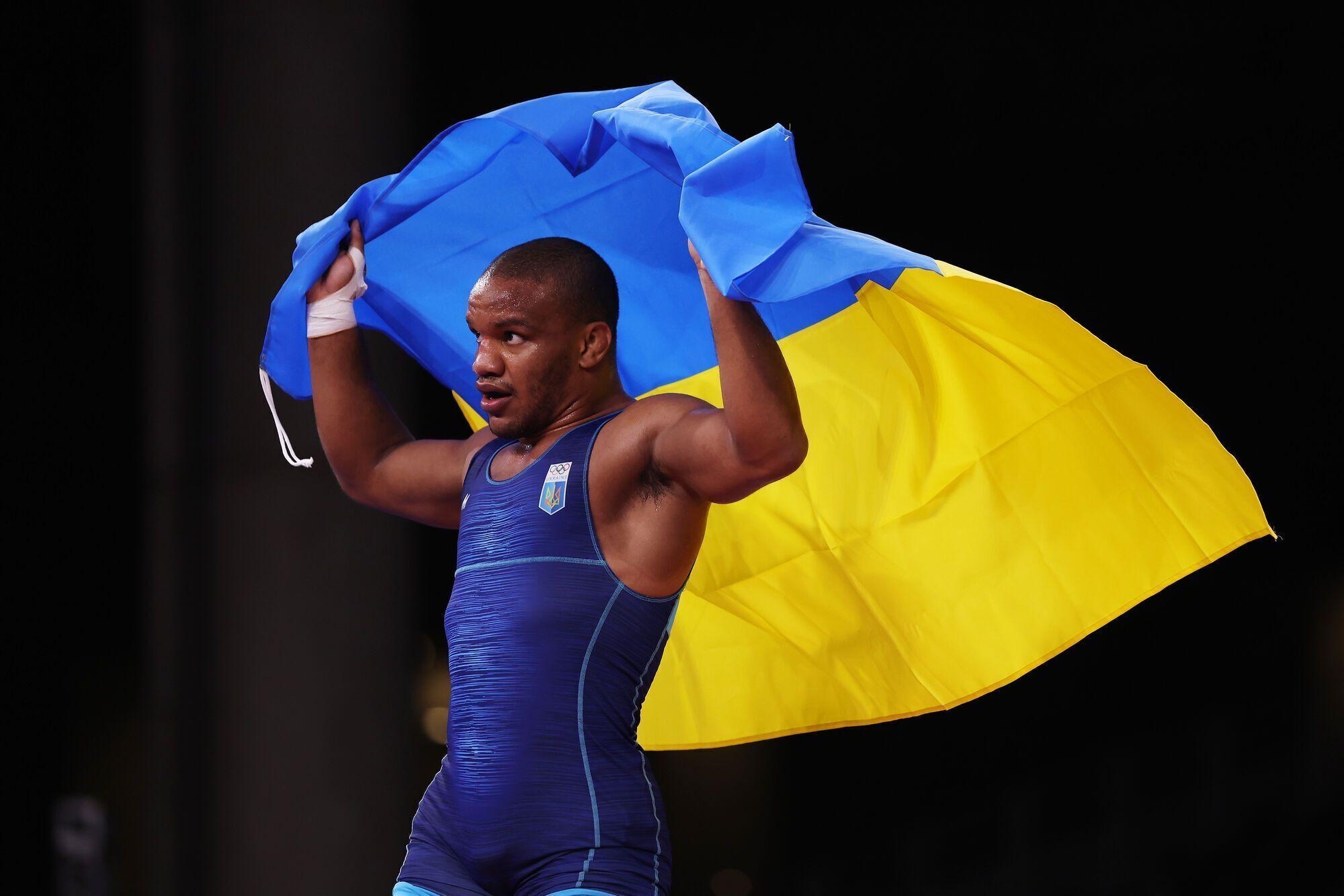 Жан Беленюк с флагом Украины
