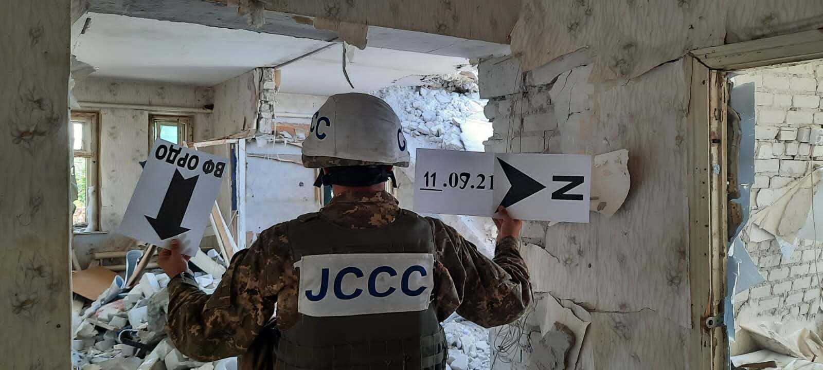 Пошкодження від обстрілів з боку окупантів.