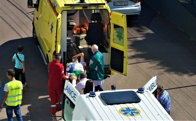 Юрія відправили в лікарню на другий швидкої