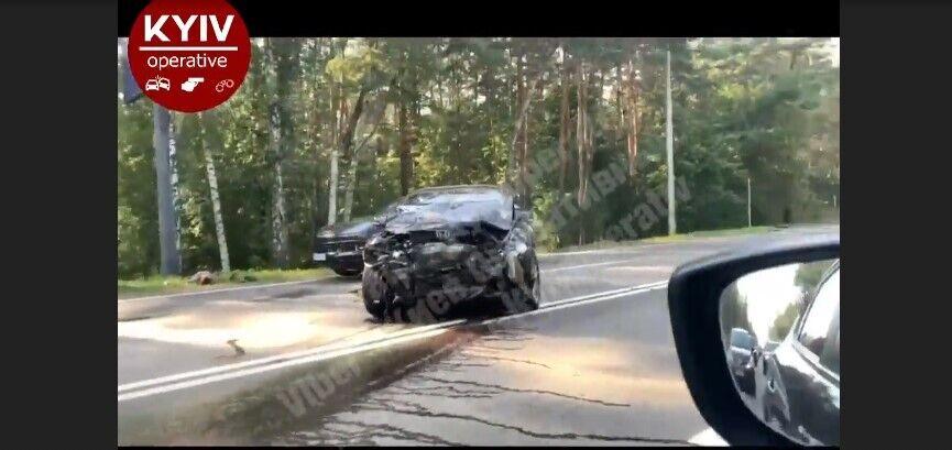 Один из автомобилей, пострадавших в ДТП