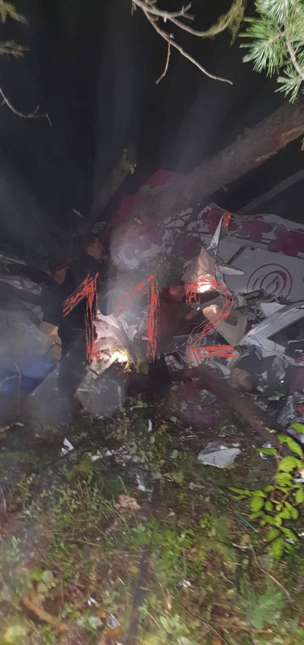 Упавший самолет под Иркутском