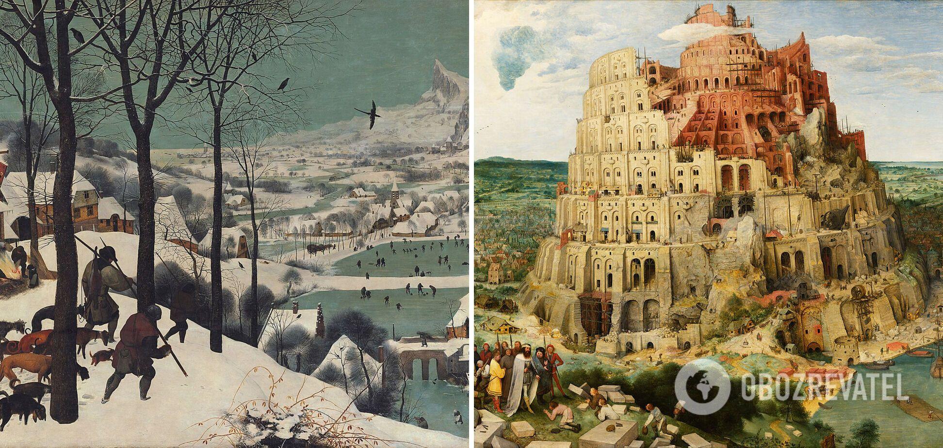 Всемирно известные работы Брейгеля в Музее историй искусств.
