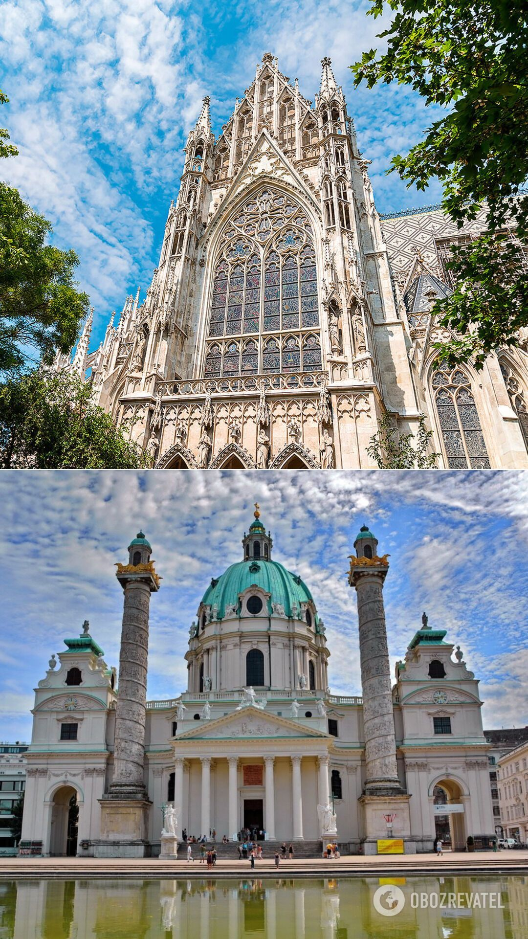 Удивительные храмы Вены. Вотивкирхе и Карлскирхе.