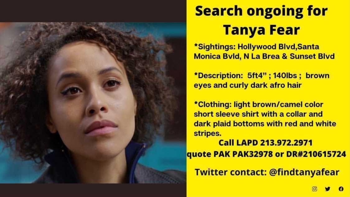 Таня Фір: інформація про розшук