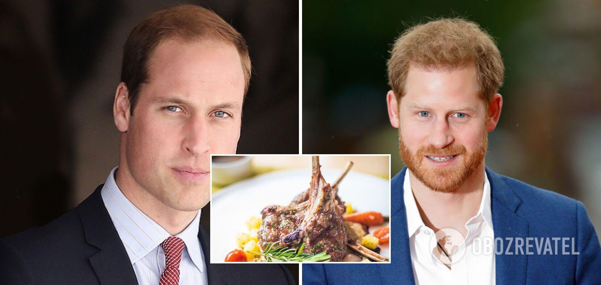 Любимый продукт принца Уильяма и принца Гарри – курица