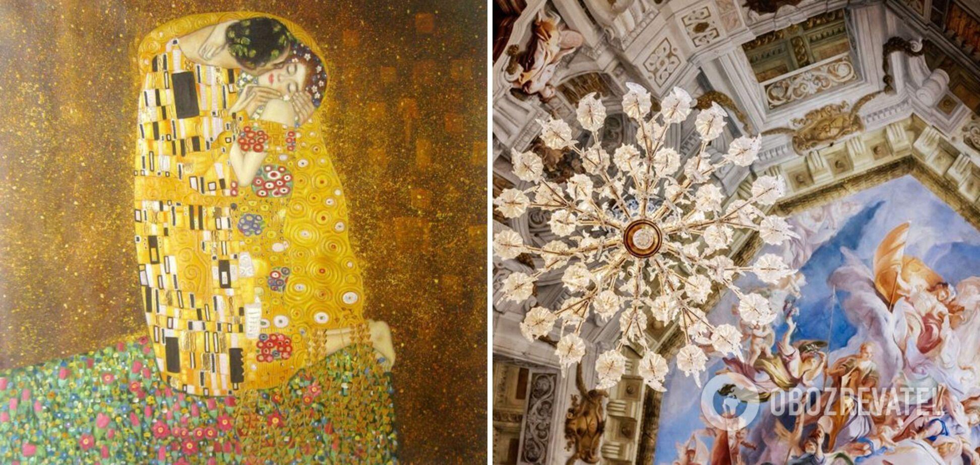 """Бельведер. """"Поцелуй"""" Климта и великолепные фрески на потолке дворца."""