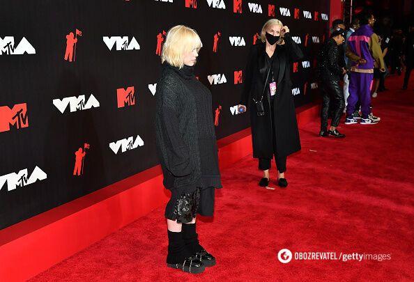 Наряд Билли Айлиш на MTV Video Music Awards 2021.