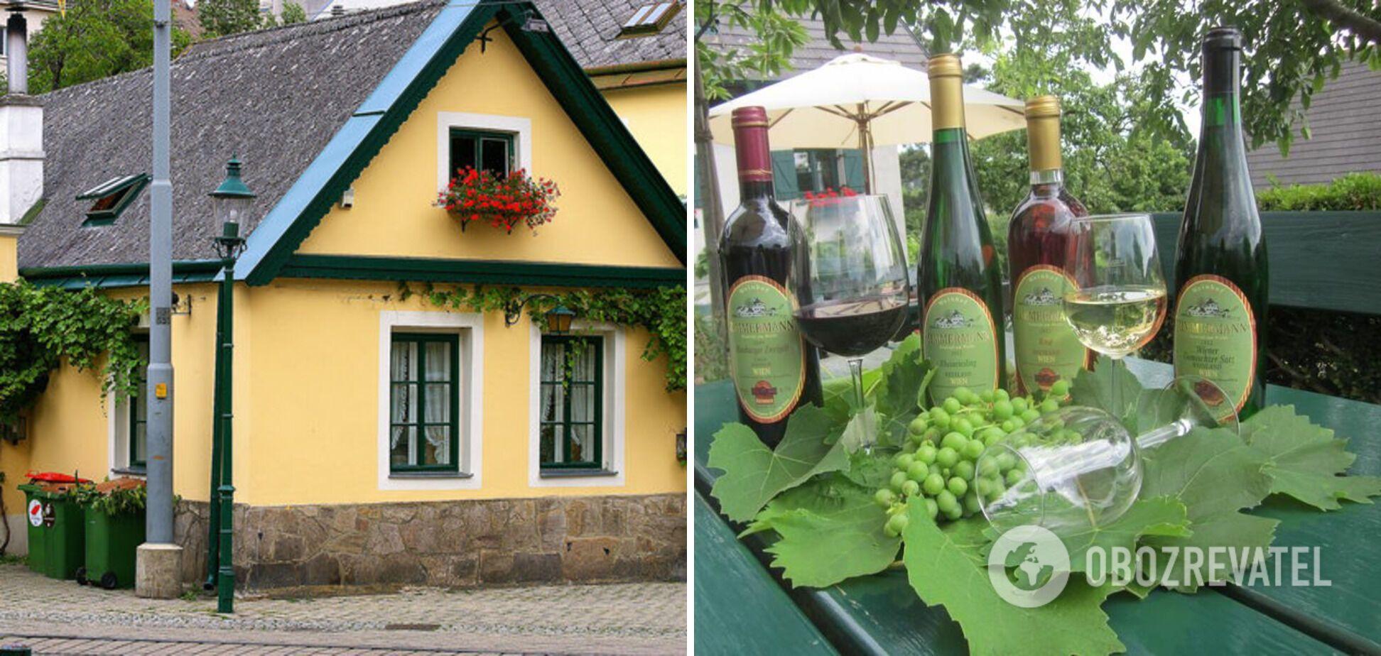 Хойригер, или венская корчма. И местное крафтовое вино.